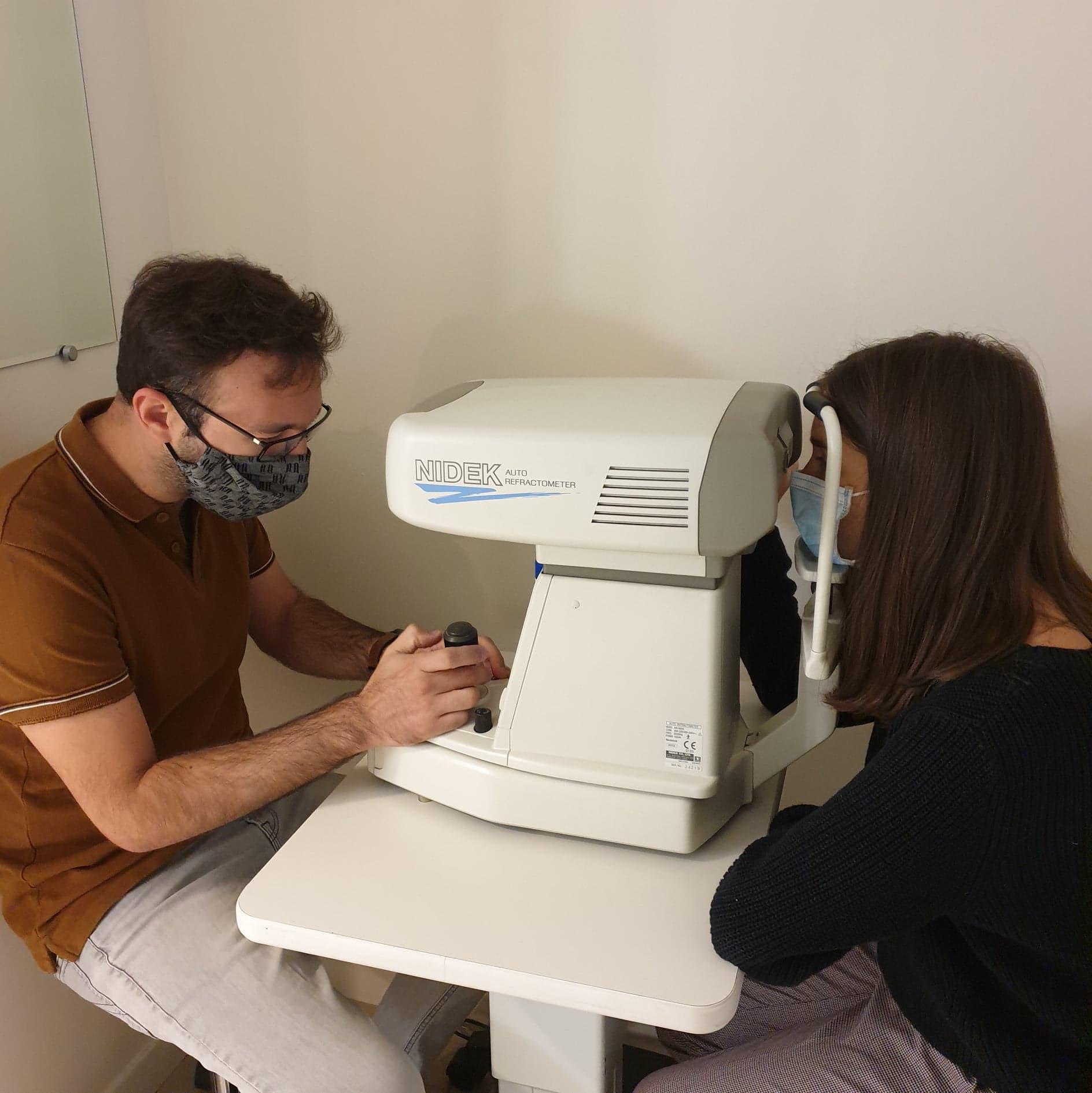 refraction lunettes test de vue masques nidek technologie
