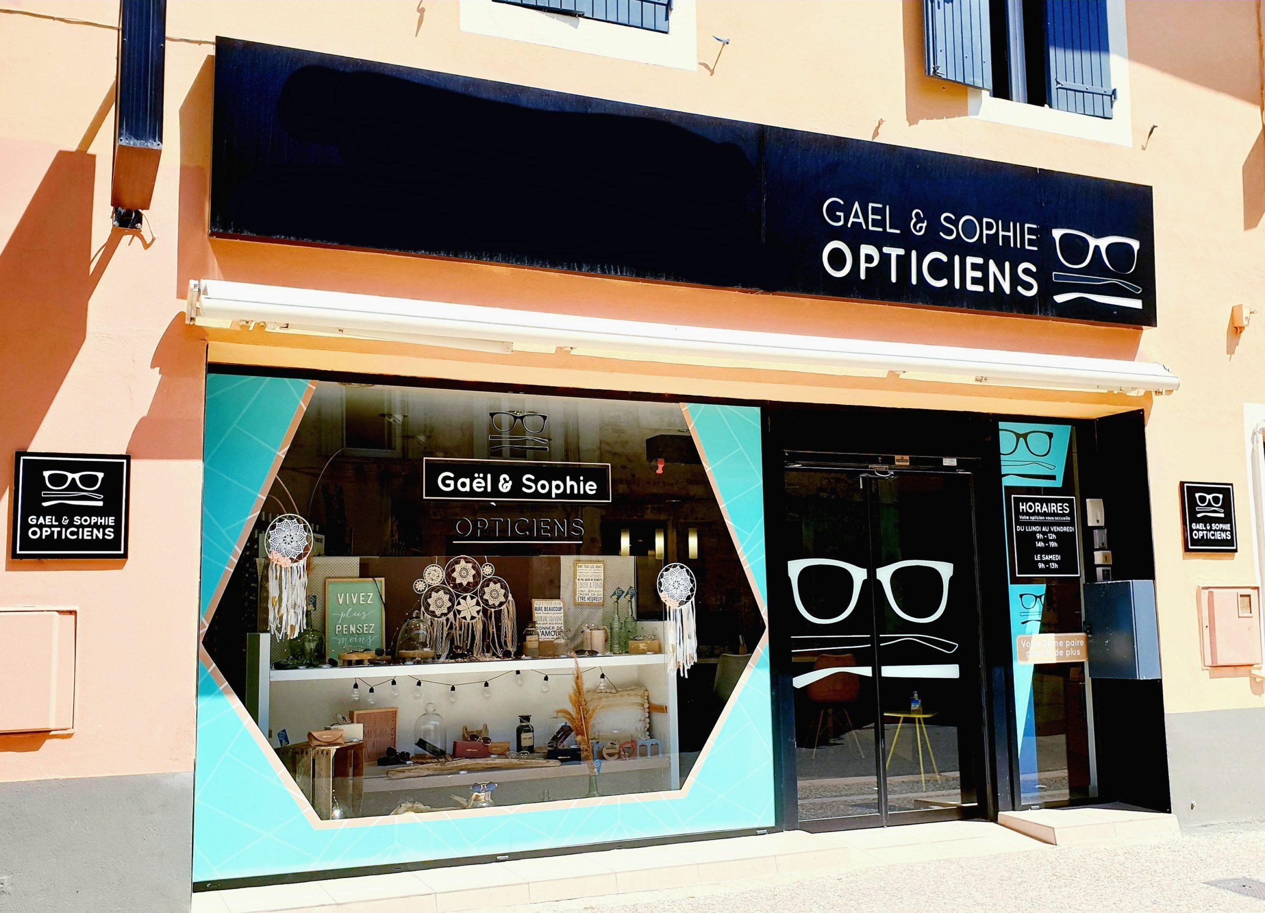 vitrine Gaël et Sophie Opticiens Saint-Gilles