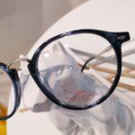 lunettes de vue détail bleu et argent garçon