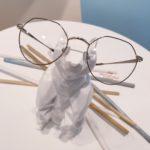 lunettes de vue ultra tendance pour ado fille noir et or métal fine