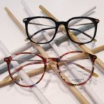 lunettes de vue femme whistler hills écaille colorée rose plastique fine forme pantos et monture optique noire et argent branches fines
