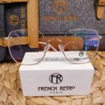 grandes lunettes de vue felle collection french retro métal or rose