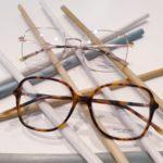 lunettes de vue femme plastique écaille miel et metal or rose opticiens saint-gilles 30800