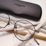 lunettes de vue optique femme whistler hills metal ronde argent et noire fine forme ronde tendance