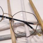 lunettes de vue femme whistler hills octogonales métal finex noire et or branche fines noires recouverte d'acétate
