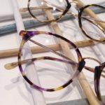 lunettes de vue femme whistler hills ecaille coloré violette jaune beige nez métal
