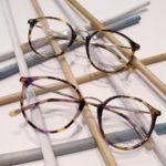 lunettes de vue femme plastique fine écaille colorées et marrons