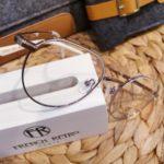lunettes de vue femme métal avec liseré blanc chic